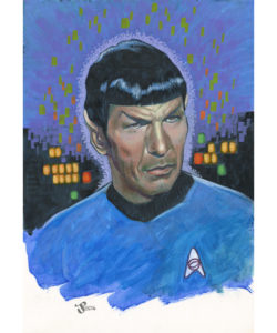 Gouache and Acrylic painting - Spock