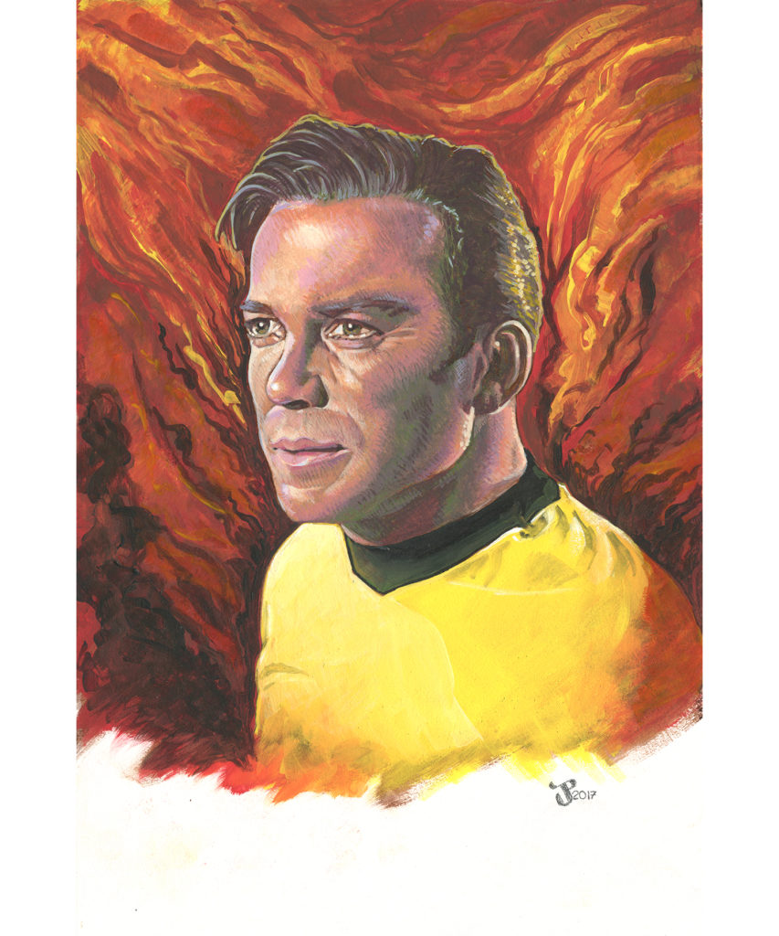 Gouache and Acrylic Painting - Kirk