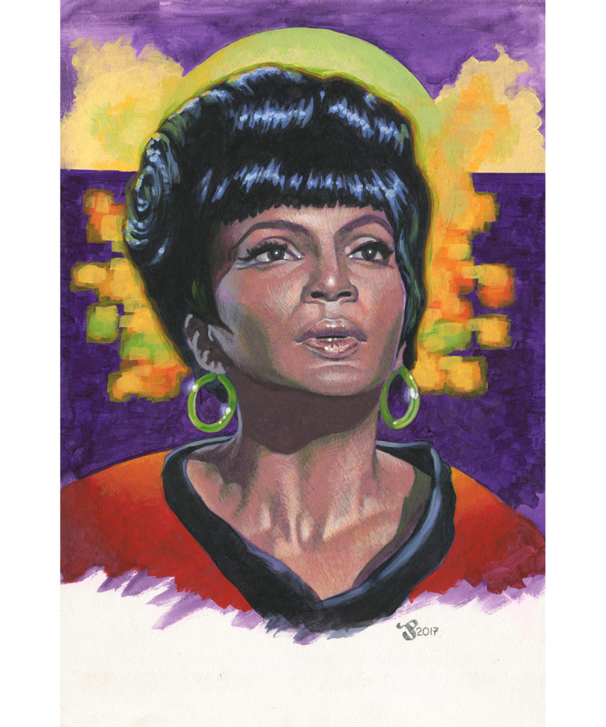 Gouache and Acrylic painting - Uhura