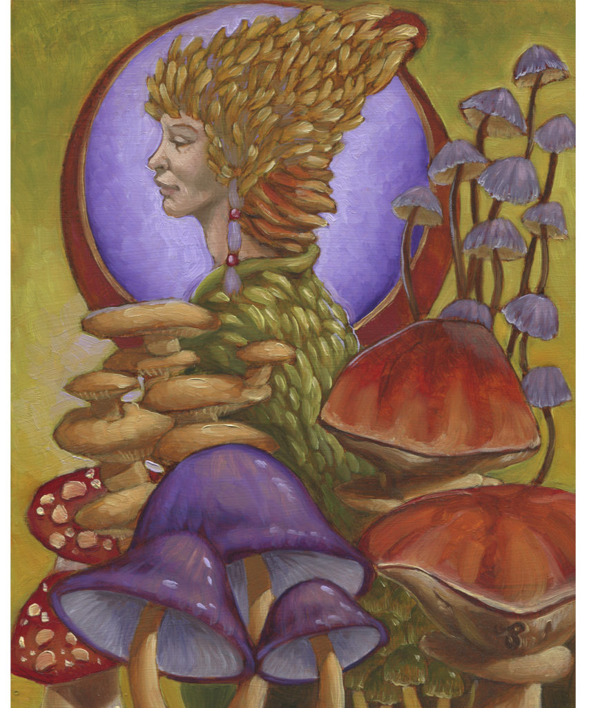 Oil Painting - Mushroom Princess
